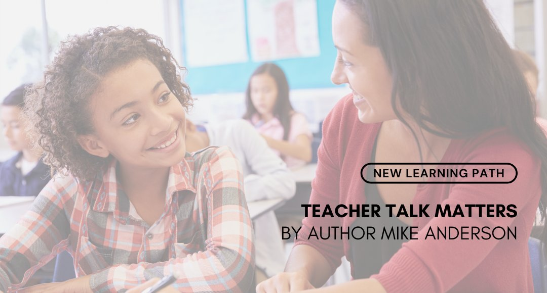 New Learning Path! 👉  https://t.co/7wF7FT2NNf Teacher Talk Matters by Author Mike Anderson! Join @balancedteacher in a thoughtful and practical learning experience to reflect on the impact of teacher language on learners and classroom environment. #edchat #teachers https://t.co/WlgBr6szQL