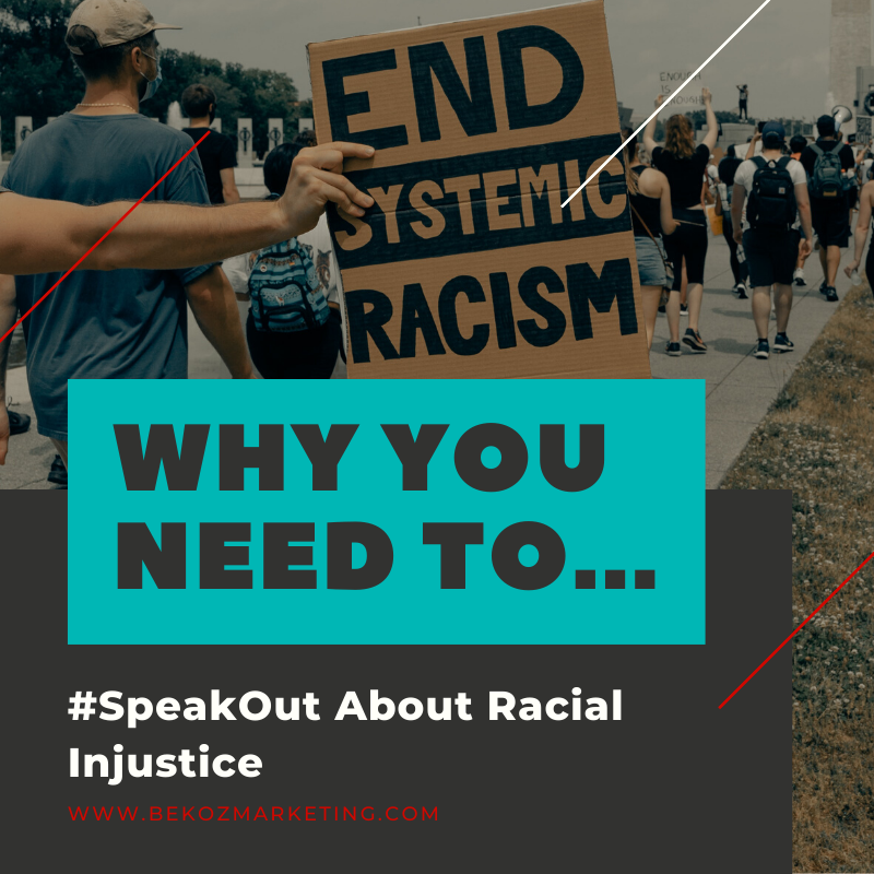 Brand leaders need to share their opinions about the state of current events and speak out about racial injustice. Just be sure that your messages align with the overall message of your brand. bit.ly/37scyZt #BekozItMatters #BekozItCreatesChange