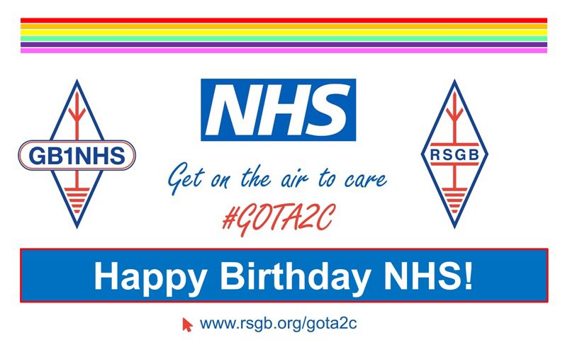 Calling all #HamRadio operators. Please join us as we 'get on the air to care' on Sunday 5th July to celebrate the 72nd  birthday of the NHS. Please tweet photos to @GB1NHS and @theRSGB #GOTA2C  @NHSuk @ECISTNetwork @NHSEnglandMedia https://t.co/irVOMV3geC https://t.co/vMZqTqLQuU