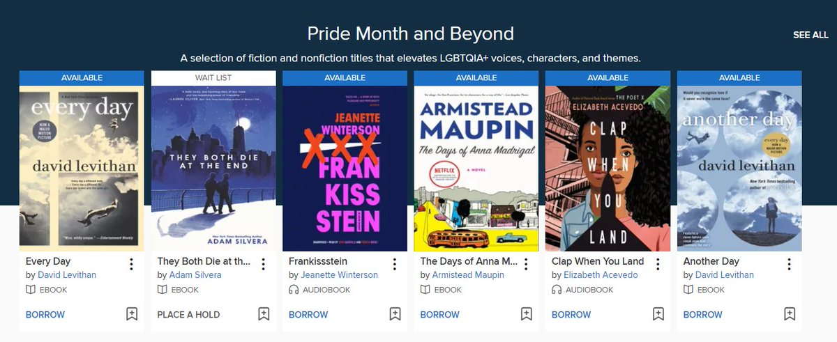 As #PrideMonth officially comes to an end we urge you to keep it going by adding some of these e-books, audiobooks & streaming films to your reading/viewing lists! Thank you to our friends at @bentley_bslce for collaborating on this collection. https://t.co/7pI9EZxa1v @bentleyu https://t.co/NfGdtEWYqS