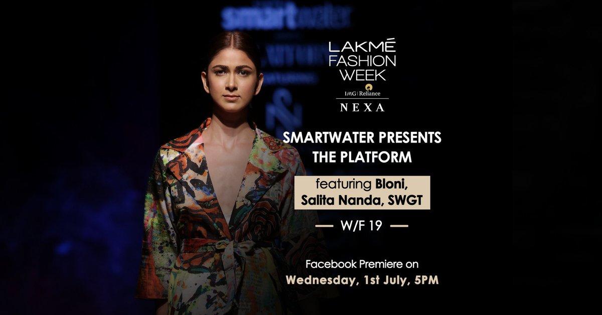 Catch the Facebook Premiere of Smartwater presents The Platform on 1st July at 5pm.  @smartwaterind @BloniAteler #SWGT @salitananda #LakmeFashionWeek #LFW #5DaysOfFashion #LFWWF19 #20YearsOfLFW https://t.co/bmTlyqJA7G