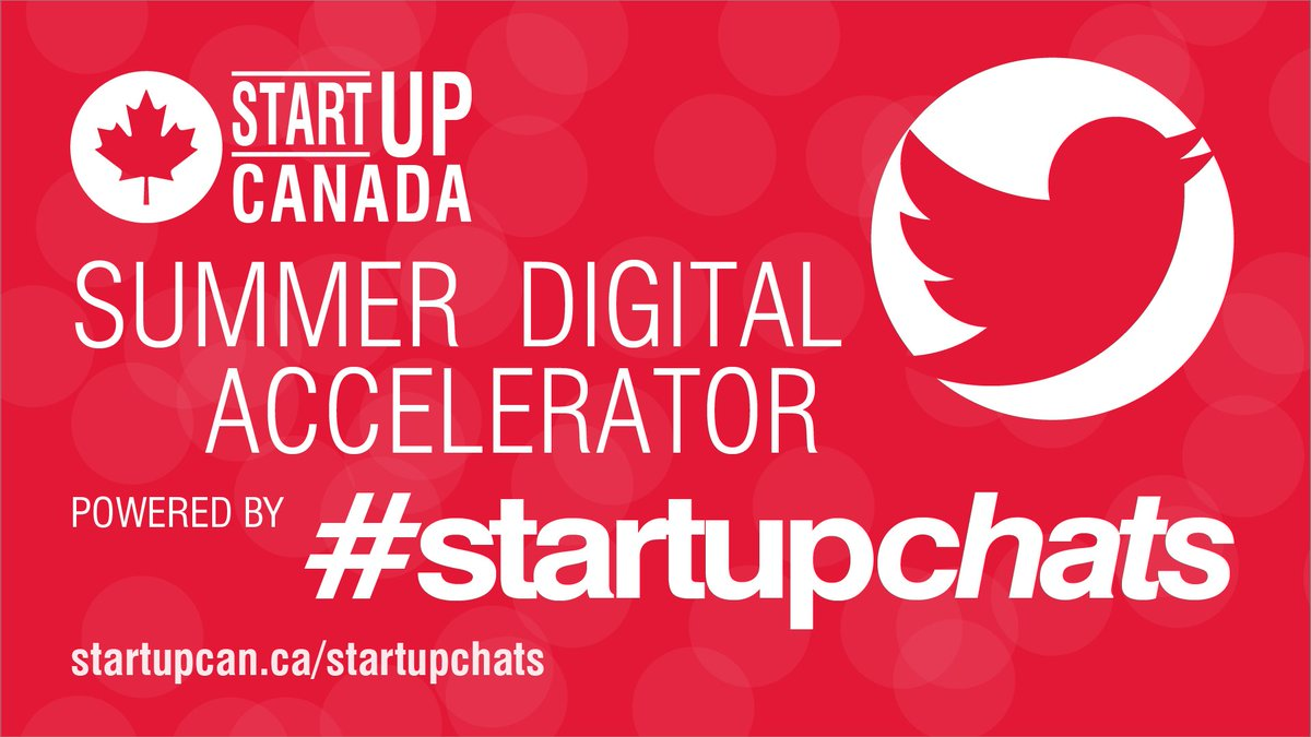 Be part of the way forward – join #StartupChats as an Expert Advisor and help find the path forward for Canadian Entrepreneurship during Canada's biggest #Entrepreneurship Twitter Chat every Wednesday and Friday at 12 pm ET.  Register here: https://t.co/XAcgObLmBC https://t.co/KoiglMv33K