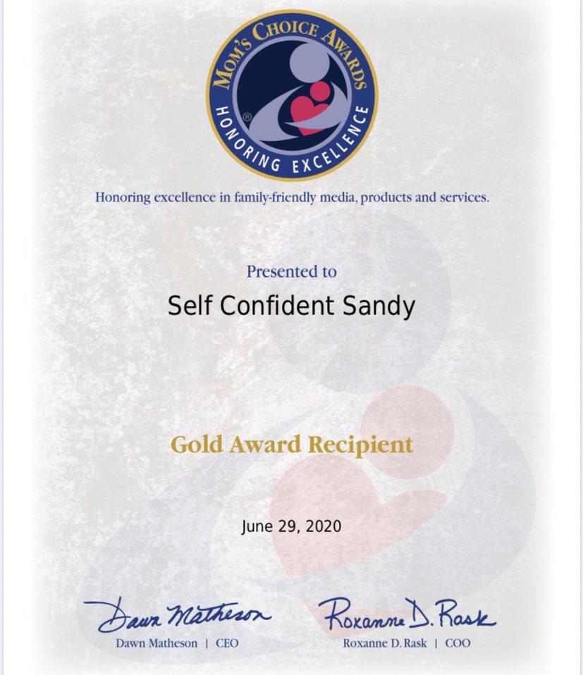 So grateful...Our new children's book has won a Gold Mom's Choice Award!     Self-Confident Sandy  https://www. amazon.com/dp/1945742593/ ref=cm_sw_r_cp_api_i_LXZ-EbQFH80QH  …   @MomsChoiceAward @amazonbooks  #besteveryou #sallyhuss #ChildrensBooks @SnoweInstitute @THEBAMNETWORK @DaveEidWGME<br>http://pic.twitter.com/AQRTLm2WFc