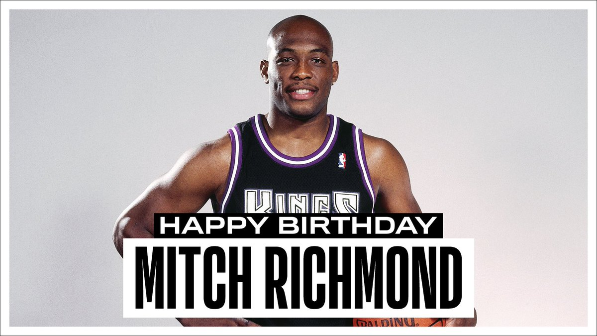 Join us in wishing a Happy 55th Birthday to 6x #NBAAllStar, 2001-02 NBA Champion and @Hoophall inductee, Mitch Richmond! #NBABDAY https://t.co/l1o12Fttm9