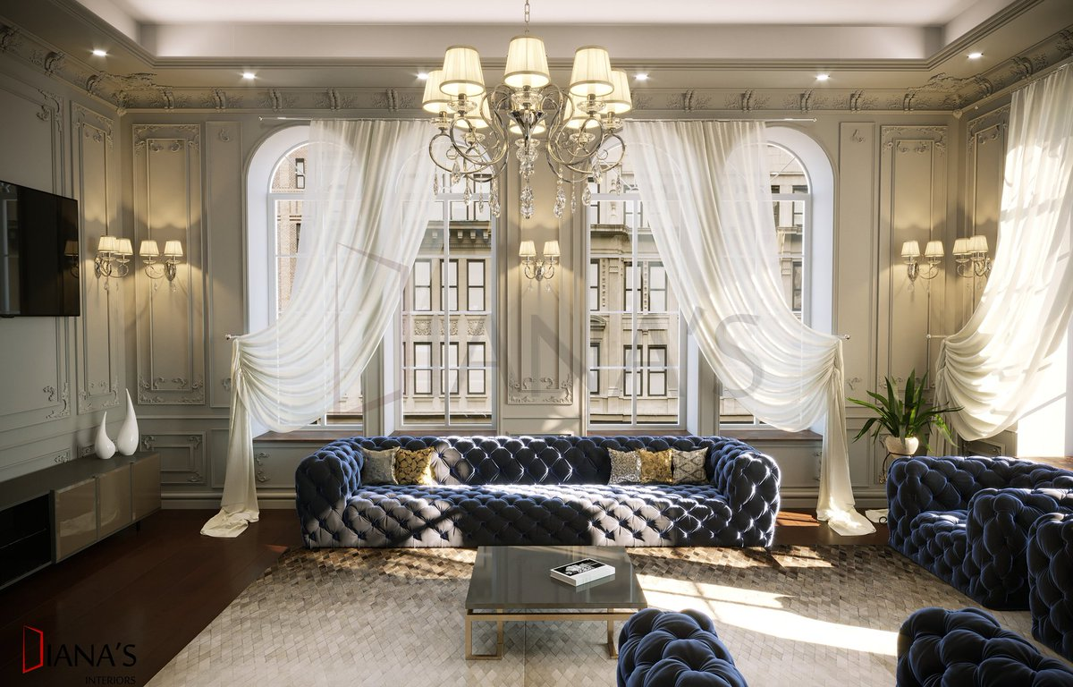 Neoclassical interior designed and visualized by @InteriorsDiana  For any enquiry contact the email : dianas.interiorss@gmail.com #interiordesign pic.twitter.com/W81AqahHWV