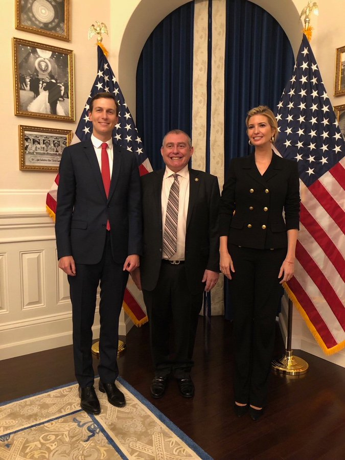 @realDonaldTrump I know there's been a lot of criming in the White House to keep track of but just a  REMINDER: Ivanka and Jared failed their FBI background checks.   Here they are in the White House with indicted Russian mafia associate Lev Parnas. https://t.co/ZXPq8bRYA1