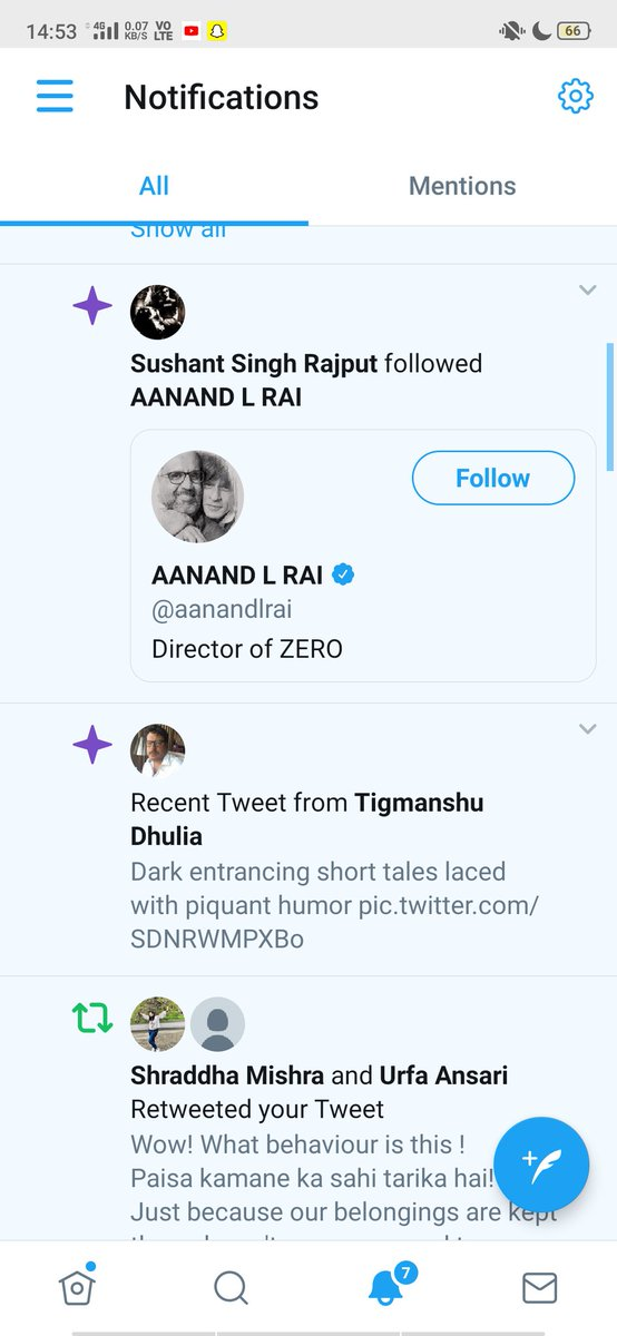 Who the hell is operating sushant's  twitter ?? I just got the notification that he started following Aanand Rai? We need CBI ENQUIRY!! @Ayushi_Vats23 look into this. #CBIEnquiryForSushant #justiceforSushanthSinghRajput #CBIEnquiryForSushantSinghRajputpic.twitter.com/oZZdtUD9m9  by Divya Patra