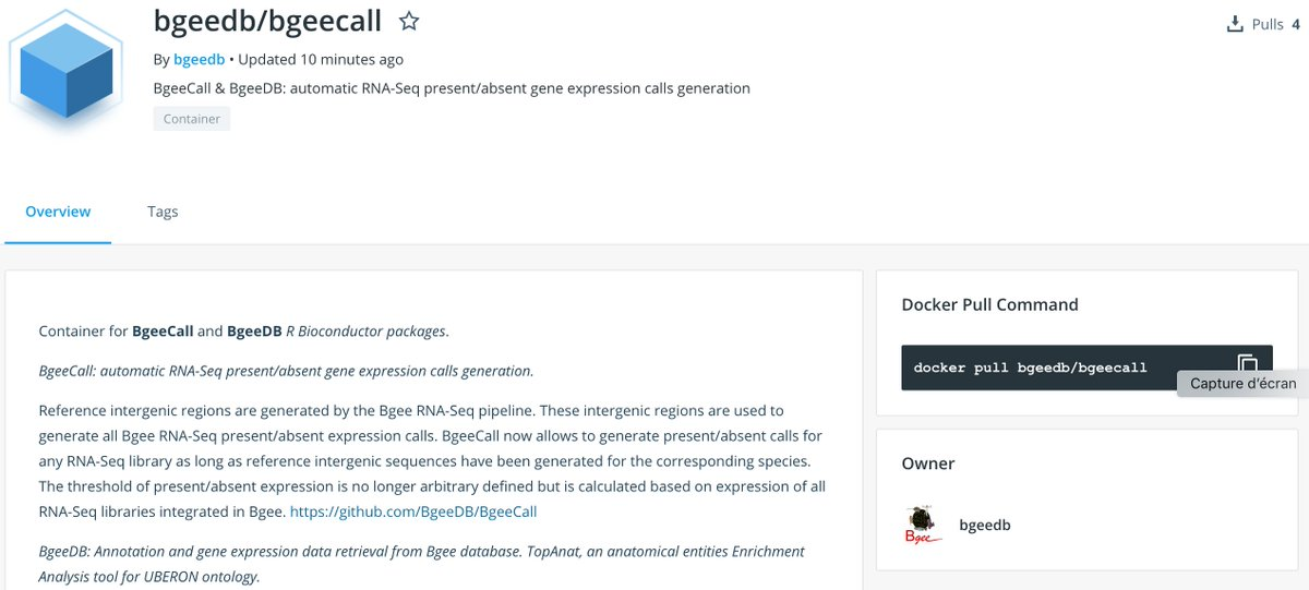 Need to reproduce analyses of our #rstats @Bioconductor packages BgeeDB and BgeeCall? They are now available in a @Docker container: https://t.co/5xG9wpcW7p https://t.co/4I11oDPxmT