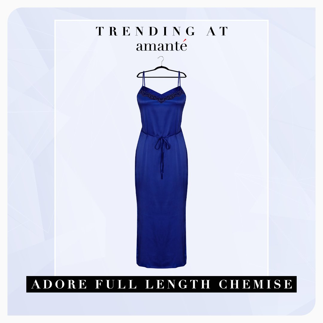 #TrendingAtamanté: A chemise that looks & feels luxurious. Featuring sleeveless straps & ankle length - a perfect blend of elegance & comfort. And, oh, its lush satin & delicate lace overlays have got us swooning over it. If it gets chilly, wrap yourself in its matching robe. https://t.co/xpjT75MS2e