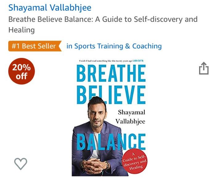 Breathe Believe Balance cracks #1 on the Amazon Bestseller List in week 1. There is no self help guide like this.. trust me.. :) Pre Order your copy amzn.to/3ic9l5b