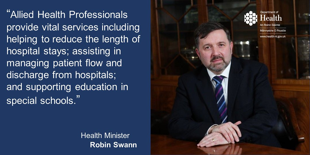 Health Minister announces significant increase in undergraduate training places for Allied Health Professionals  Additional 40 places secured for Sept in:  ✅Physiotherapy ✅Occupational Therapy ✅Speech & Language Therapy ✅Diagnostic Radiography  READ: https://t.co/85gt4TE91n https://t.co/INc6KVCcsC
