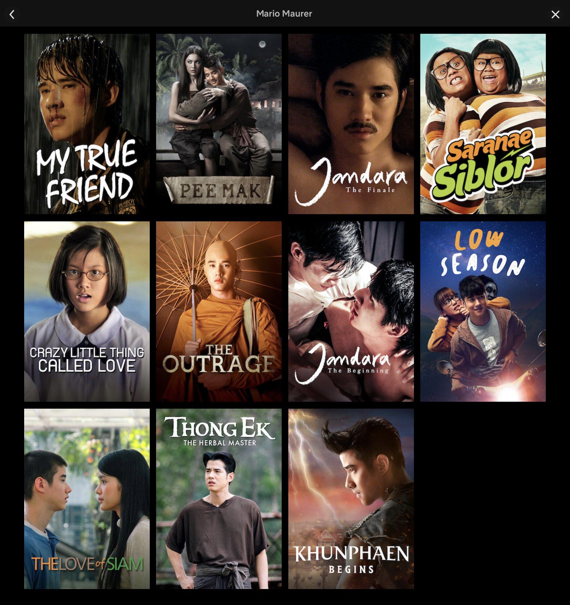 Thai Movie News On Twitter Other Movies Starring Mario Maurer On Netflix In Thailand