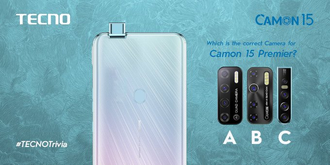 Tecno Trivia Thursday! Which is the correct Camera for #Camon15Premier? A, B or C? #Camon15Premier #UltraclearDaynNight #TecnoGhana https://t.co/hUmNIvKO9I