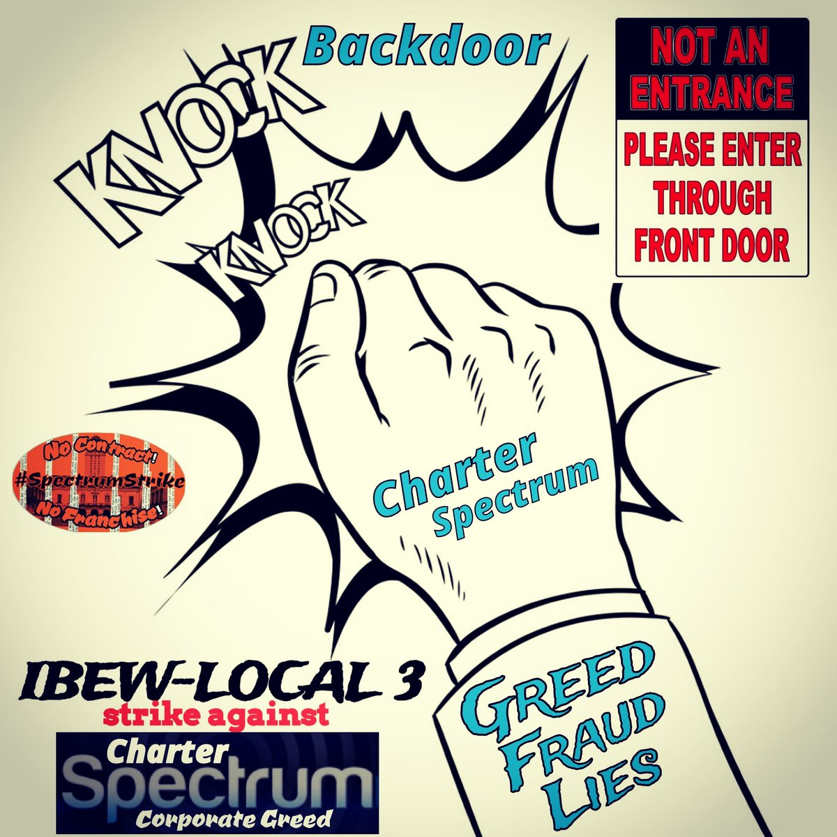 Day1191 Brothas & Sisthas dark alleyways and backdoor deals; are the comfort zones of corporate greed like our Charter/Spectrum. Let's highlight not just them; but whomever is opening the backdoor #SpectrumStrike #Local3 #FairContractNow #corporategreed #NoContractNoFranchise2020<br>http://pic.twitter.com/WxMdHJL23W