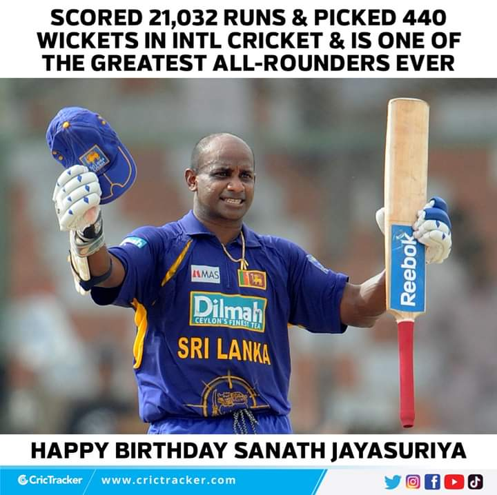 Join us in wishing Sanath Jayasuriya, a very happy birthday