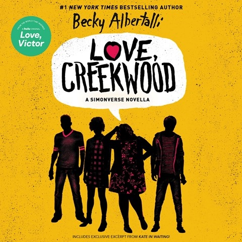 """Today's #AudiobookReview """"@HelloMLC's Simon, funny & anxious, will tug at listeners' hearts @JamesFouheyJr's Blue is supportive, @TheRealBahniT's Abby is enthusiastic & @katerudd captures Leah's loving snark"""" in a novella from @beckyalbertalli @HarperAudio https://t.co/9S79caDzaf https://t.co/ZuEs52DtJI"""