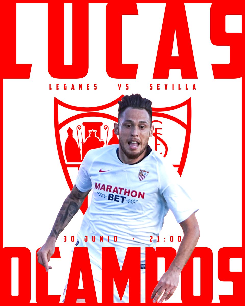 👉🏻 #LeganésSevillaFC 🔛⚽ Vamos mi @SevillaFC!!! 💪🏻⚪🔴 #LO5️⃣