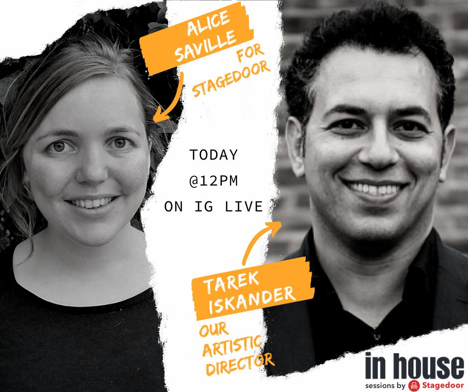 Head over to our Instagram as our Artistic Director, @TarekIskander1 chats to Alice Saville (@RaddingtonB) for @StagedoorLDN from 12 noon today. Join the conversation on Instagram Live!