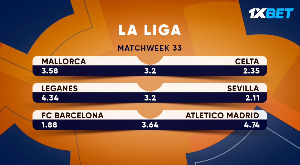 Three matches of the Spanish #LaLiga. The meeting between our partners @FCBarcelona with Atletico Madrid is considered to be central match! Which team do you bet on? 👉 bit.ly/31tRcd3