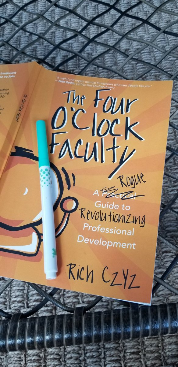 We want staff to be hungry for Professional Development! Great summer read! @RACzyz