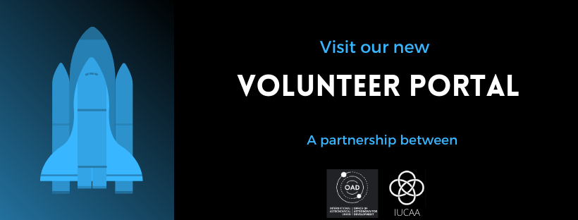 #Astro4Dev The @Astro4Dev has created a volunteer portal to connect volunteers and IAU offices. Volunteers can sign up for an the emailing list to receive a notification of volunteer opportunities. Learn how to be involved here: astro4dev.org/volunteers/