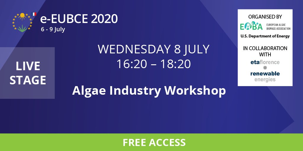 I love this #biomass conference. And this years, for the good or the bad, you can join some of the workshops for free and it's virtually. Thank you @EUBCE! #algae #bioenergy