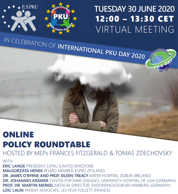 Today, in celebration of #PKUDay2020 , as part of the @official_espku initiative the EU Cross Party Alliance a Video Meeting took place. It aimed to raise awarness on importance of access to adult care. #ESPKU #PKUDay