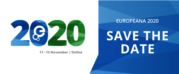 📢 Save the date! Europeana 2020 will be taking place online between 11-13 November 2020. Find out more and register your interest: https://t.co/5EQ974bs6w   #EuropeanaCommunities #BuildDigitalCapacity https://t.co/XhM631mcnU
