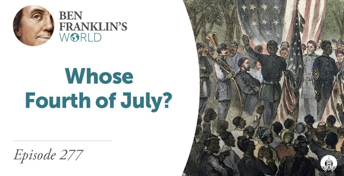 NEW @BFWorldPodcast EPISODE! In honor of the  #FourthofJuly, @marthasjones_ & @cjamesbonner join us to explore the question: What did the Fourth of July mean for African Americans in the late 18th & early 19th centuries? https://t.co/qX9K8Pbxnn #History #Twitterstorians https://t.co/B1J0wsvirX