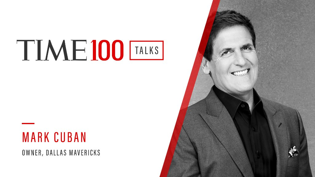 Join us today at 1PM ET for a live TIME100 Talks featuring Dallas Mavericks owner Mark Cuban.  Register here: https://t.co/HcyYyHhISC https://t.co/5MOkovXom1