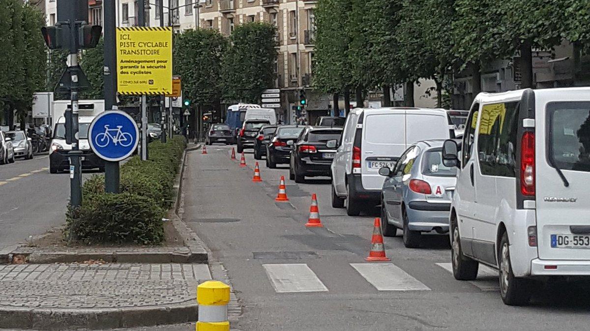 Rennes Info Travaux On Twitter Dans Le Cadre Des Amenagements Transitoires Des Travaux Sont En Cours Aujourd Hui Pour Ameliorer La Piste Cyclable En Rive Sud Du Boulevard De La Liberte Rennes