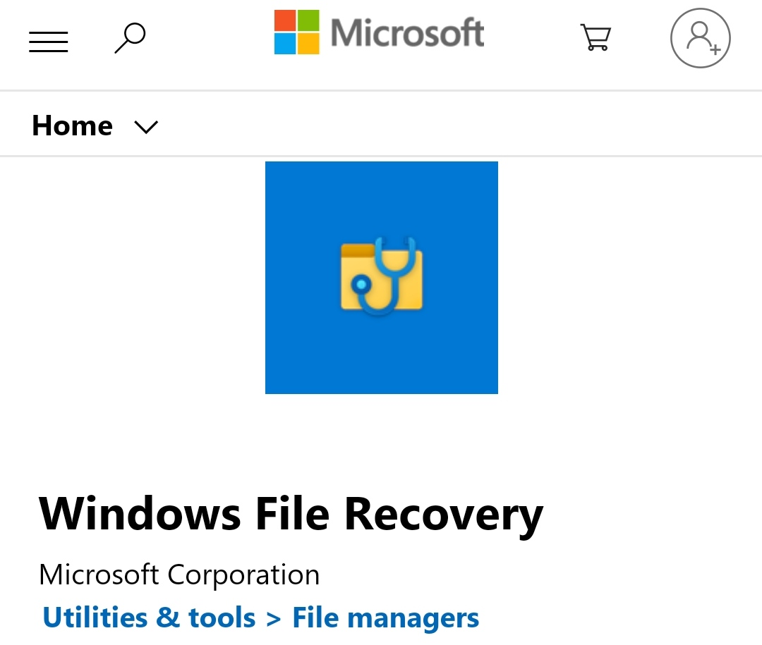 Microsoft file recovery tool