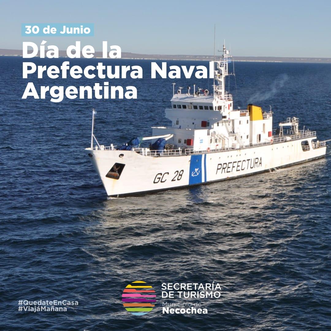 30 DE JUNIO DÍA DE LA PREFECTURA NAVAL ARGENTINA   Saludamos en su 210° aniversario a la autoridad marítima que, con esfuerzo y vocación, vela por la seguridad de nuestras aguas.   #prefectura #necocheaarg #marargentino ⛴️ https://t.co/4fzH14Pqnb