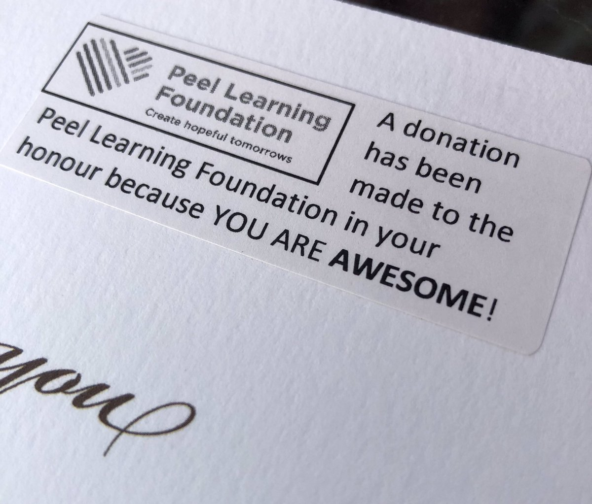Celebrating the hard work & resilience of our AWESOME @TonyPontesPS staff with a donation to the @PeelLearningFDN!  With gratitude and kindness.... https://t.co/9gz5cFJ1Eo