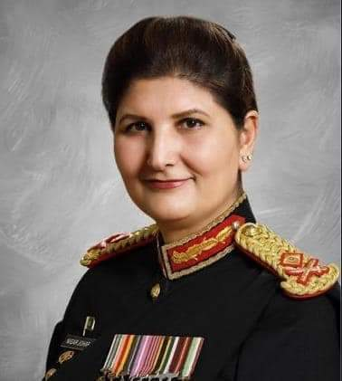 Major General Nigar Johar, HI (M) promoted as Lieutenant General.  She is the 1st female officer to be promoted as Lieutenant General  The officer has been appointed as 1st female Surgeon General of Pakistan Army. #headshot @AsimSBajwa @AzmaBokhari #WomensChampion @iVeenaKhanpic.twitter.com/dropYVorLz  by Mini💃Google😜