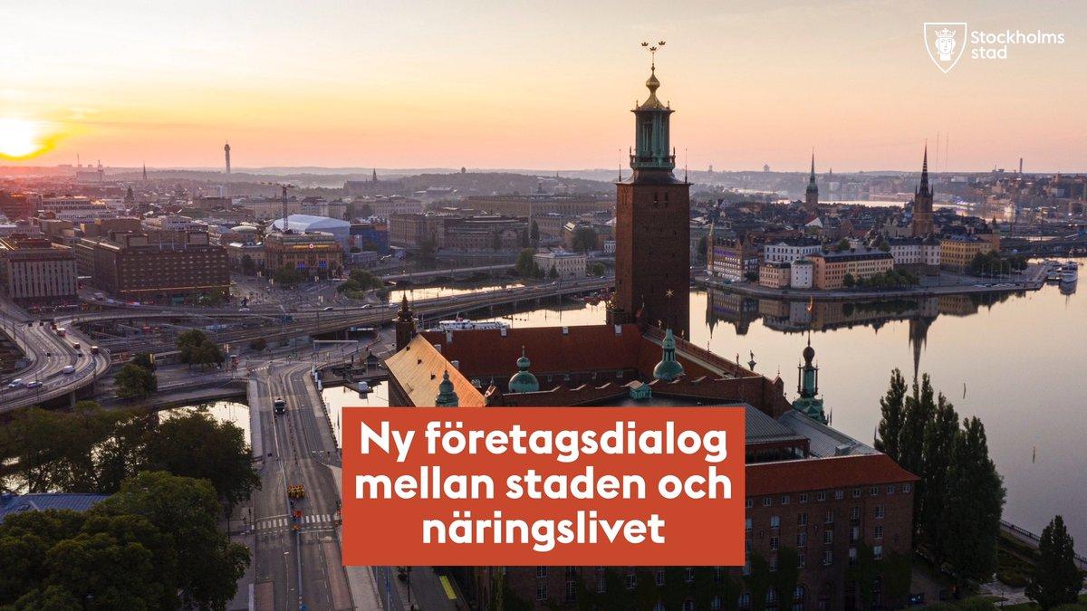 Ny företagsdialog mellan Stockholms stad och näringslivet!  Företagare ska ha möjlighet att påverka stadens näringslivsarbete och utvecklingen i olika stadsdelar. Därför bjuder staden in till företagsdialoger mellan staden och det lokala näringslivet. --> https://t.co/ETGin8hc0D