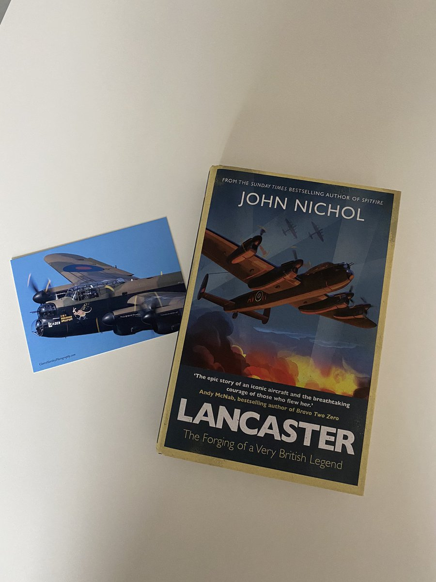"What a mega treat to have just opened this from my pal @JohnNicholRAF - his new book ""Lancaster"". John has amazing stories, some jaw-dropping, from his years of service, and even though he is @RoyalAirForce, I don't hold that against him... Cheers John, can't wait to read it. https://t.co/XOvrMkJmAe"