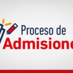 Image for the Tweet beginning: PROCESO DE ADMISIONES PARA EL