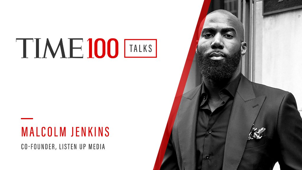 Join us today at 1PM ET for a live TIME100 Talks featuring Listen Up Media Co-Founder Malcolm Jenkins in a conversation about the future of sports.  Register here: https://t.co/s8lOB9eZtt https://t.co/sXyzwnJYf3