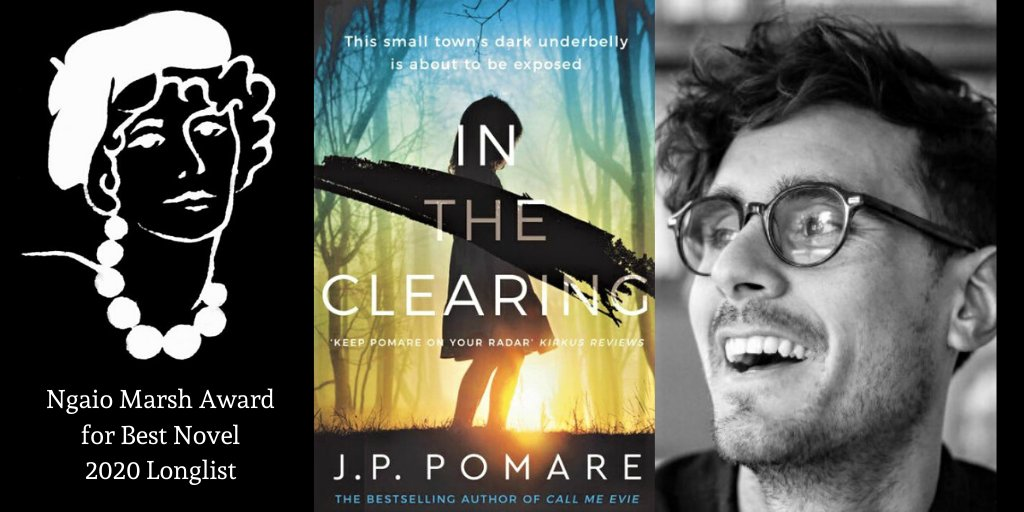 """Congrats to @JPPomare, whose looking to become the first #yeahnoir scribe to win Best First Novel one year, then Best Novel the next. """"a disturbing yet compulsive read, with a snap to its prose and an arresting sense of people and place,"""" say our judges. #2019Ngaios #yeahnoir https://t.co/6dPibFkAl3"""