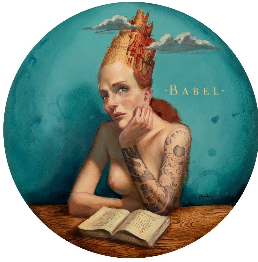 En mi cabeza Babel, torre de lenguas sueños y palabras que me llevan hasta él. 🎨Fernando Vicente. @FVicente_Illust  #30Junio #FelizMartes https://t.co/MzPcByEbbs
