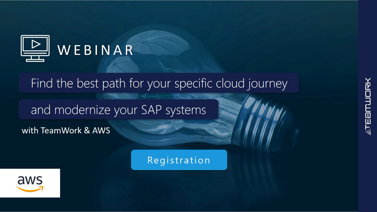Image for the Tweet beginning: ▶️ Webinar: Re-think your SAP