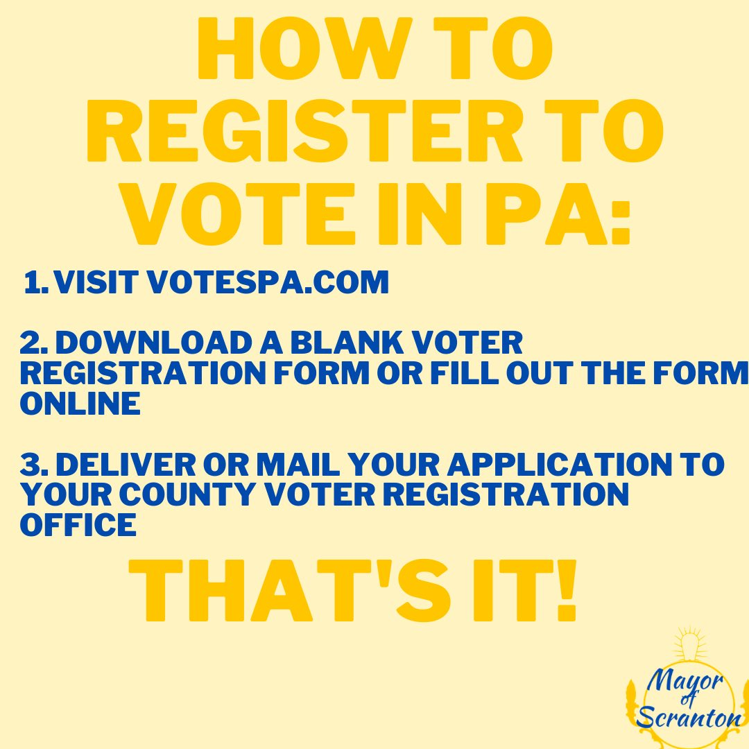 Register to vote in just a few easy steps! Make sure you are prepared to participate in November's election. Visit https://t.co/43YDie8ls0 to learn more and complete your registration! https://t.co/YeNyMFjZAW