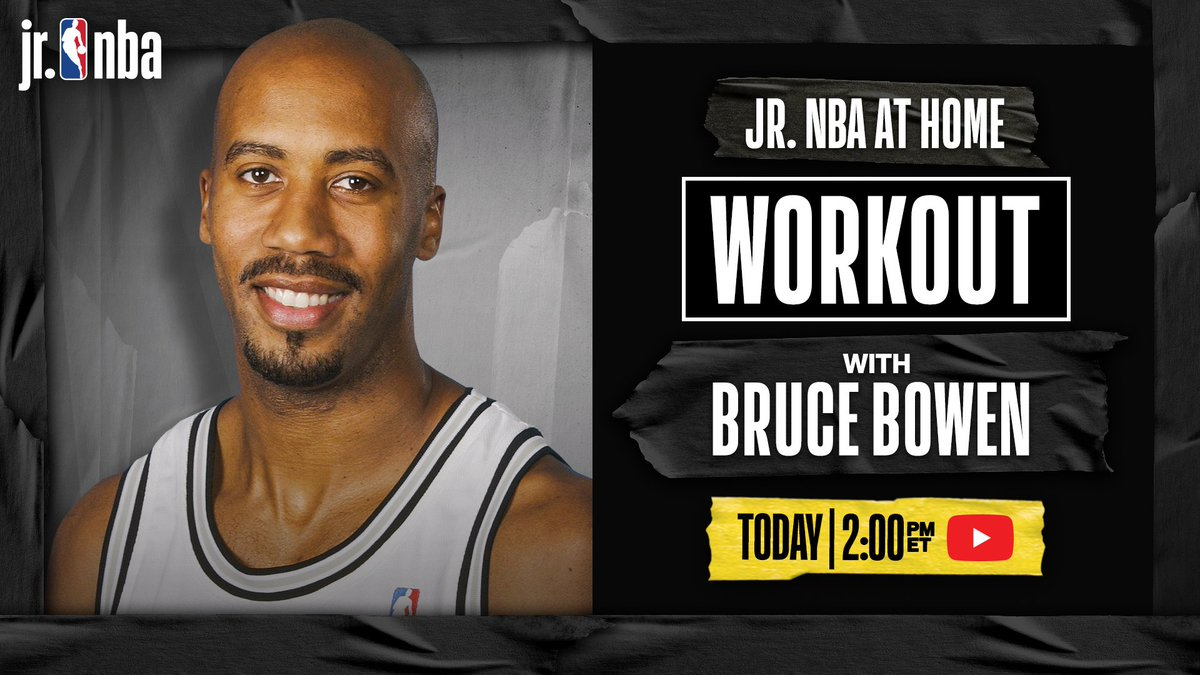 Who is ready for a #JrNBAatHome Workout⁉️   Join @NBA champion @Bowen12 TODAY at 2 pm/et on #JrNBA Youtube and work on your game‼️ https://t.co/stJARWnXff https://t.co/SyM4H69Tbj