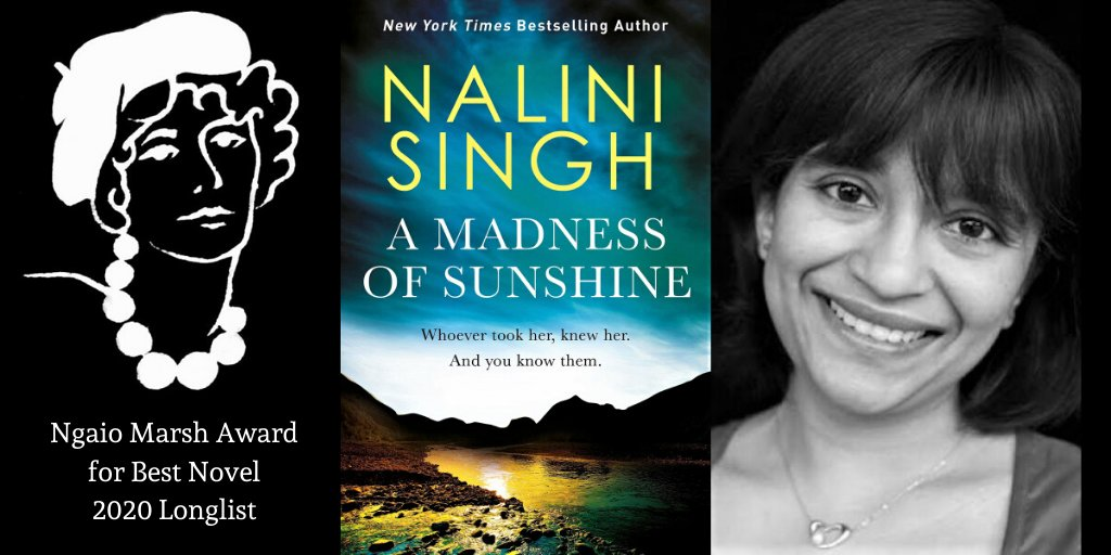 """Congrats to Auckland author @NaliniSingh, globally renowned for @nytimesbooks bestselling paranormal romances, now longlisted for #2020Ngaios for her first rural mystery. """"A strong sense of the Coast and small-town setting. Cleverly done,"""" say our judges #yeahnoir @NepheleTempest https://t.co/rzIIGSDvFv"""