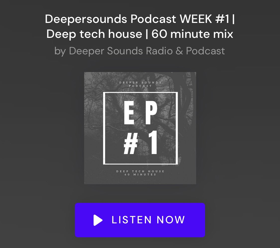 #deepersounds EP1 - 60min deep tech mix. Take a listen  #house #techhouse #deephouse #dj #beatport #mix #podcast #follow #like #twittermusic<br>http://pic.twitter.com/DMOEmgMhkH