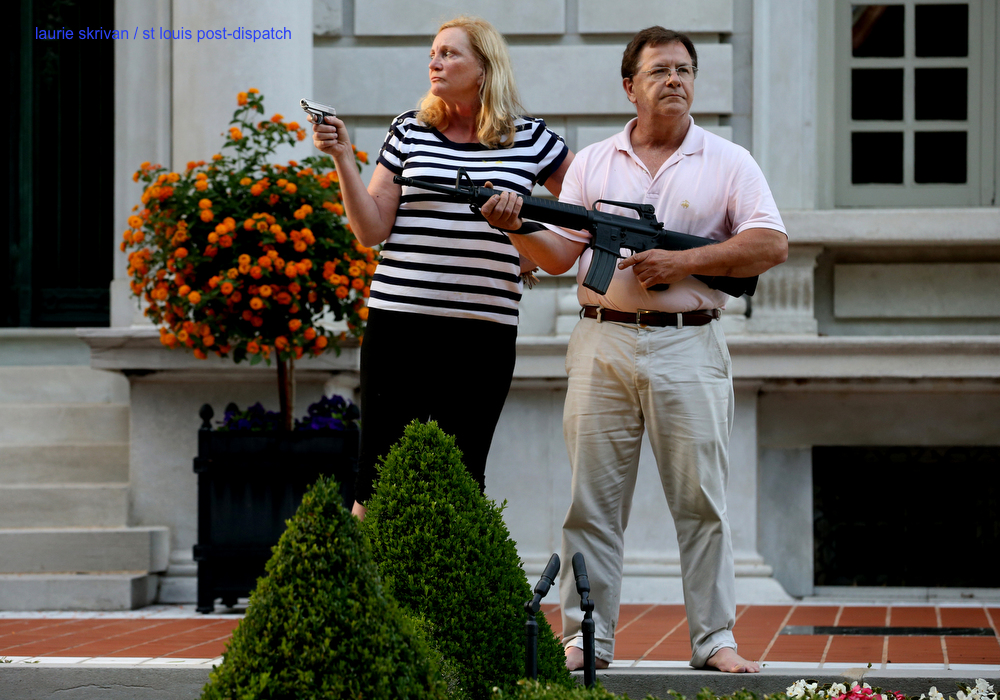 St. Louis couple who pointed guns at protesters saw threat by 'bad actors,' lawyer says; protester says he feared 'bloodbath' stltoday.com/news/local/cri… via @stltoday #BlueLivesMatterProtests #CastleDoctrine