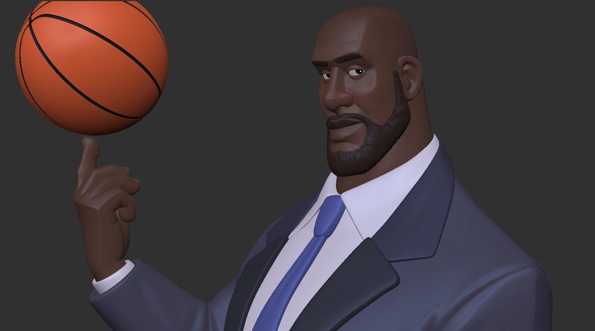 """Shaquille O'neal"" by Joao Sousa Based on the caricature by Harry Dunkwu https://www.artstation.com/artwork/ELVove  #ArtStationHQ #ArtStation #Shaq #FanArt #BasketballArt #Digital3D #CharacterDesign #CharacterModelingpic.twitter.com/C3PIOErOE4"