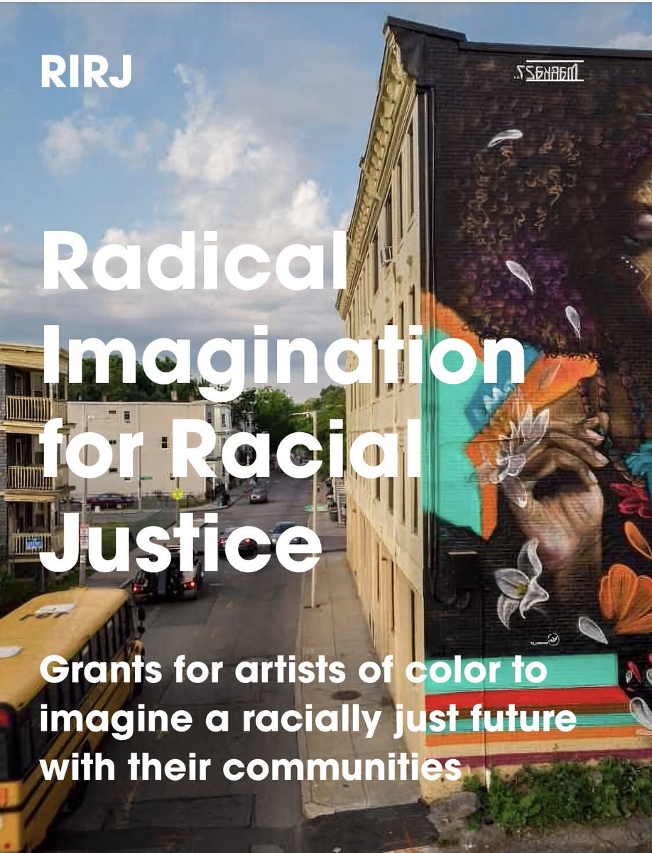 City of Boston Arts is offering grants  ($1K, $25K & 40K) to artists and creatives of color (ages 14+) who are interested in imagining a racially just future in Boston and your community.   Deadline to apply is July 8 https://t.co/my1F3TCXuC https://t.co/cwBDCbzluJ