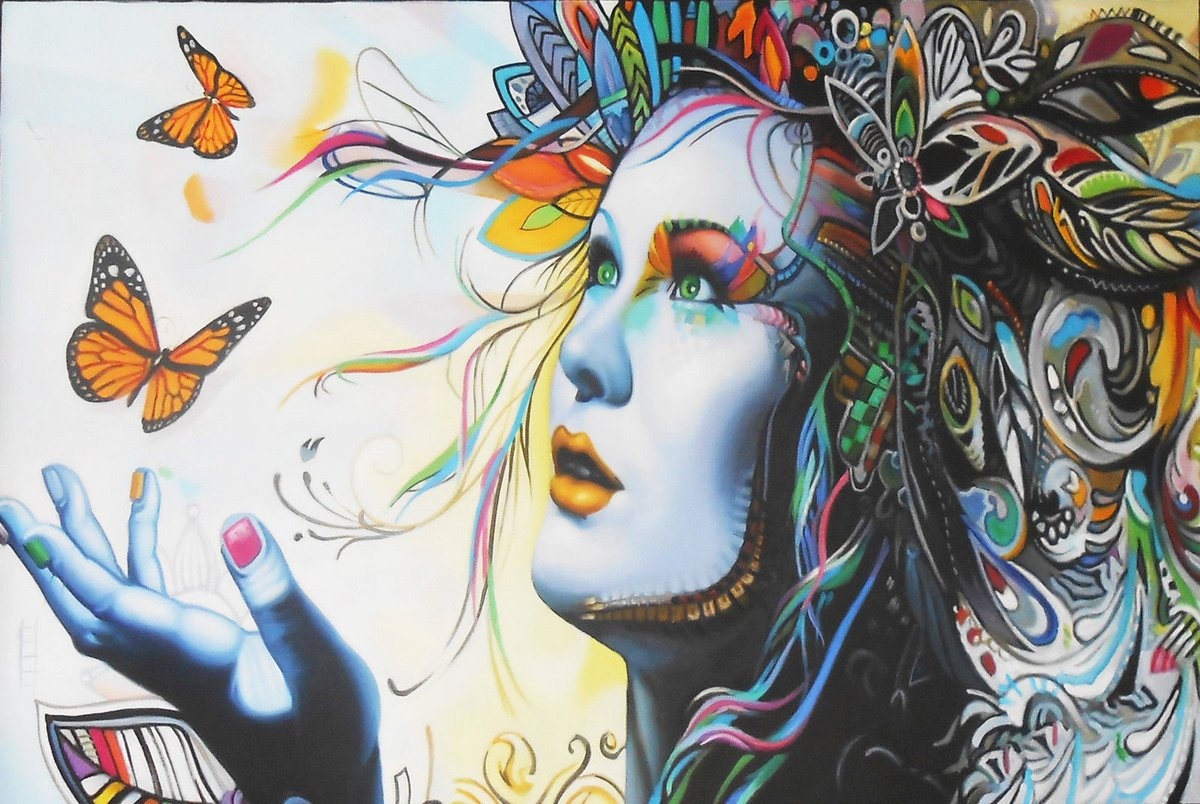 ... try to be the best version of yourself, look for beauty, choose beauty. #StreetArt #Art #butterfly  #Beauty #Love #Graffiti #Humanity #Colors  #Heartpic.twitter.com/FVzI8OmGde